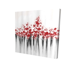 Canvas 24 x 24 - 3D - Falling red dot