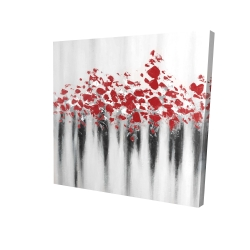 Canvas 24 x 24 - 3D - Little peas red