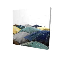 Canvas 24 x 24 - 3D - Umbrellas