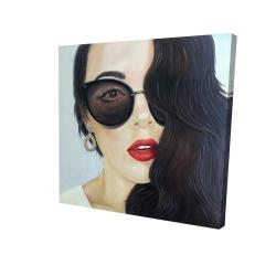 Canvas 24 x 24 - 3D - Fashionable sunglasses