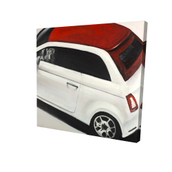 Canvas 24 x 24 - 3D - Italian red and white car