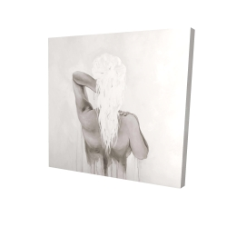 Canvas 24 x 24 - 3D - Beautiful dreamy woman