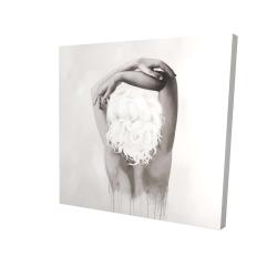 Canvas 24 x 24 - 3D - Feminine delicacy