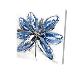 Canvas 24 x 24 - 3D - Blue petal