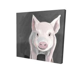 Canvas 24 x 24 - 3D - Little piglet