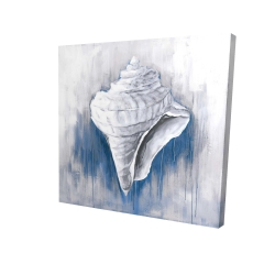 Canvas 24 x 24 - 3D - Blue conical shell