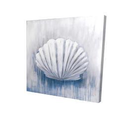 Canvas 36 x 36 - 3D - Blue feston shell