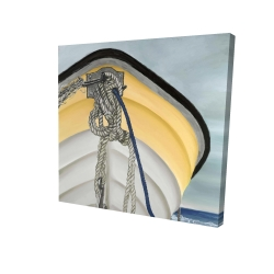 Canvas 24 x 24 - 3D - The yellow boat