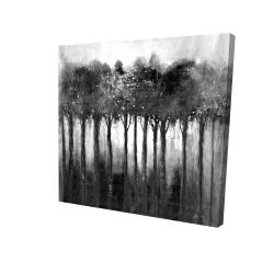 Canvas 24 x 24 - 3D - Monochrome trees