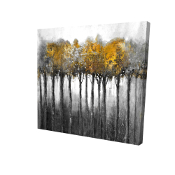 Canvas 36 x 36 - 3D - Illuminated forest