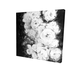 Canvas 24 x 24 - 3D - Monochrome rose garden