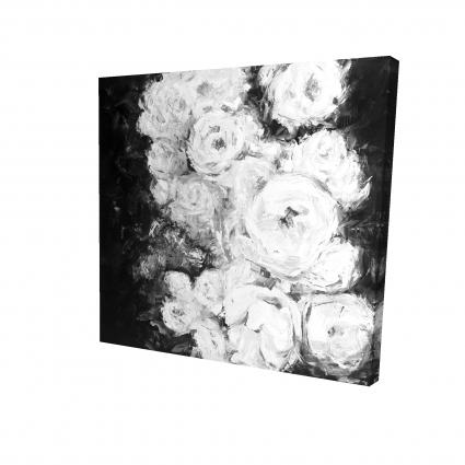 Jardin de roses monochrome
