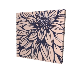 Canvas 24 x 24 - 3D - Dahlia flower