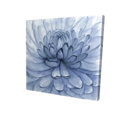 Canvas 24 x 24 - 3D - Blue petals flower