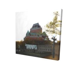 Canvas 24 x 24 - 3D - Le château de frontenac in autumn