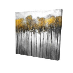 Canvas 24 x 24 - 3D - Abstract yellow forest