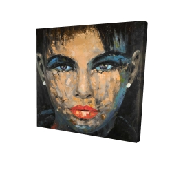Canvas 24 x 24 - 3D - Abstract female portrait