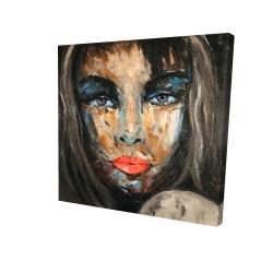 Canvas 24 x 24 - 3D - Colorful portrait