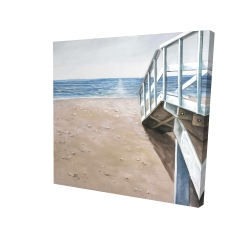Canvas 24 x 24 - 3D - Soft seaside landscape