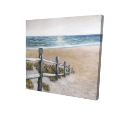 Canvas 24 x 24 - 3D - Soft seaside
