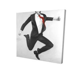 Canvas 24 x 24 - 3D - Happy classic man