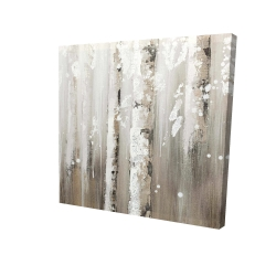 Canvas 24 x 24 - 3D - Delicate birch trees