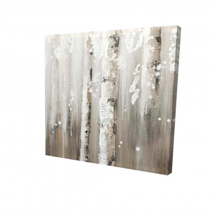 Delicate birch trees