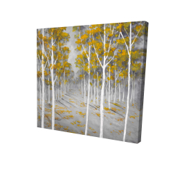 Canvas 24 x 24 - 3D - Birch forest