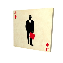 Canvas 24 x 24 - 3D - Jack of diamonds