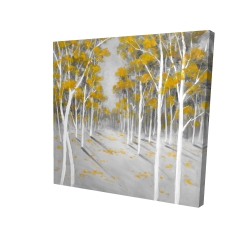 Canvas 24 x 24 - 3D - Yellow birch forest