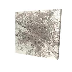 Canvas 24 x 24 - 3D - Paris