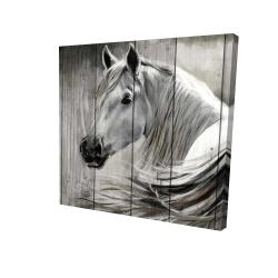 Canvas 24 x 24 - 3D - Rustic horse