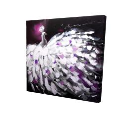Canvas 24 x 24 - 3D - Purple peacock