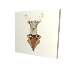 Canvas 24 x 24 - 3D -  deer with brown coat