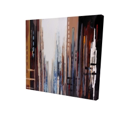Canvas 24 x 24 - 3D - Abstract buildings