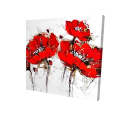 Canvas 24 x 24 - 3D - Abstract poppy flowers