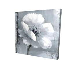 Canvas 24 x 24 - 3D - Gray & white flowers