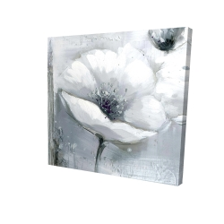 Canvas 48 x 48 - 3D - Grayscale flowers