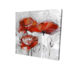 Canvas 24 x 24 - 3D - Abstract poppies