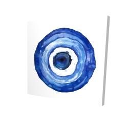Canvas 24 x 24 - 3D - Erbulus blue evil eye