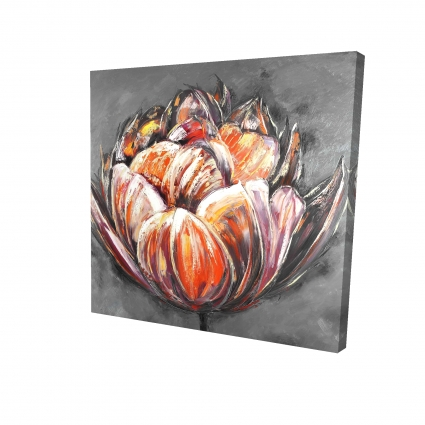 Double and abstract orange tulip