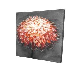 Canvas 24 x 24 - 3D - Abstract dahlia flower