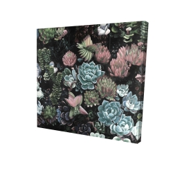 Canvas 24 x 24 - 3D - Succulent set