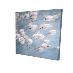 Canvas 24 x 24 - 3D - Delicate cotton flowers