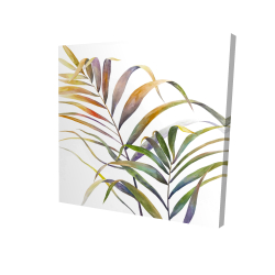 Canvas 24 x 24 - 3D - Watercolor tropical palm leaves