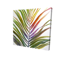 Canvas 24 x 24 - 3D - Watercolor tropical palm leave
