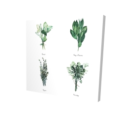 Canvas 24 x 24 - 3D - Fine herbs