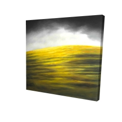 Canvas 24 x 24 - 3D - Yellow hill