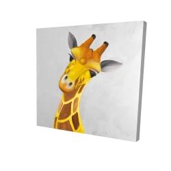 Canvas 24 x 24 - 3D - Curious giraffe