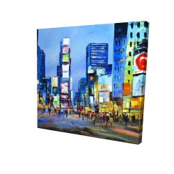 Canvas 24 x 24 - 3D - Cityscape in times square